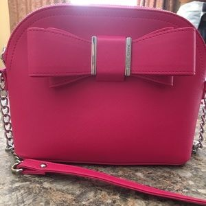 Betsy Johnson cross body dome satchel purse